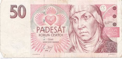 50 Korun 1994, 1994-1996 Issue - Czech Republic - Banknote ...