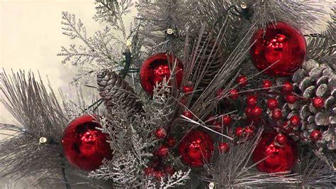 illuminated festive wreath  garland  ornaments
