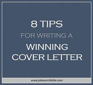 8 tips for writing a winning cover letter job search bible With tips for writing a cover letter for an internship