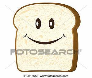 Clipart of Bread slice isolated on white, k10815053 ...