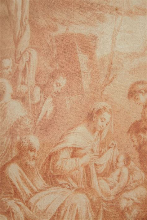century italian red chalk drawing adoration