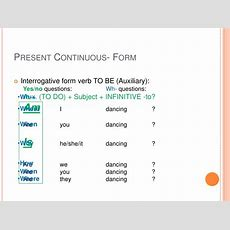 Present Simple And Present Continuous Moodle