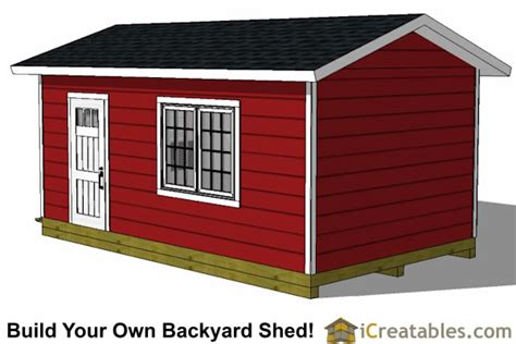 12x20 Storage Shed Plans by 12x20 Garage Shed Plans Icreatables