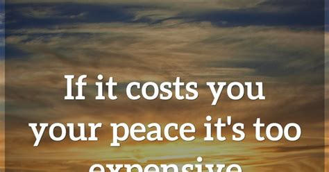 costs   peace   expensive
