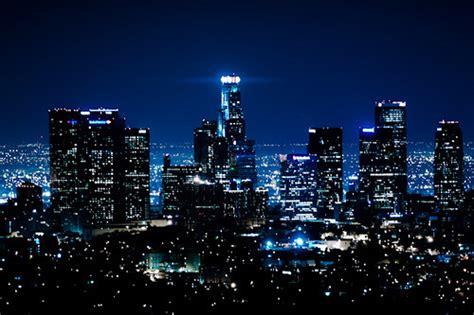 lights luxury city blue city lights view buildings city