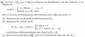 Abbildungsmatrix Berechnen : basis vektorraum von polynomen vom grad n matrix und basen bestimmen ableitung mathelounge ~ Themetempest.com Abrechnung
