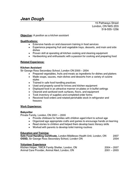 Kitchen Manager Resume Objective by Resume For Kitchen Website Resume Cover Letter