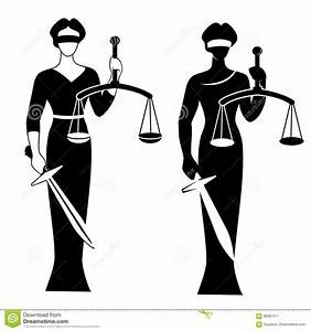 Lady justice black stock vector. Illustration of isolated ...