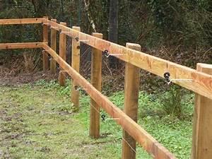 Piquet En Bois Pour Cloture : fabrication et pose de cl tures en bois alain herv travaux forestiers ~ Farleysfitness.com Idées de Décoration
