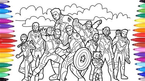 kid marvel avengers endgame coloring all avengers
