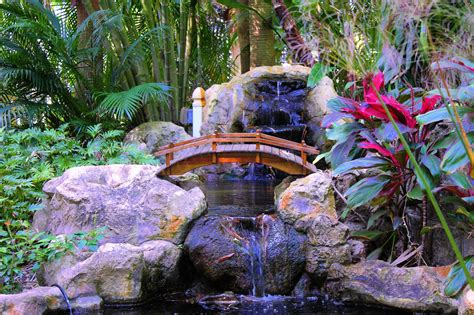 Hintergrundbilder  Wasserfall, Garten, Innere, Park