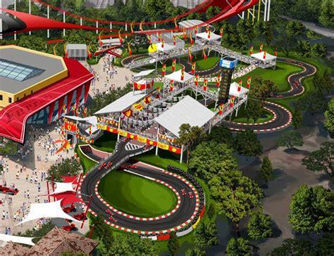 ferrari land theme park  portaventura resort  spain