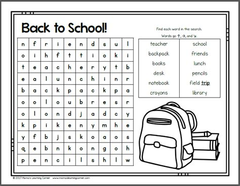 august word search packet mamas learning corner