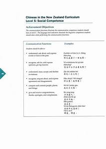 Chinese In The New Zealand Curriculum