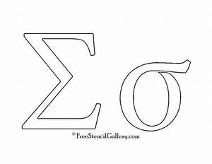 greek letter sigma free stencil gallery With greek letter stencils