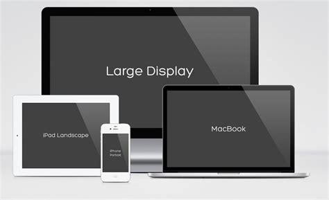 responsive design mock  pack ux mockup design