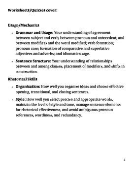 6th grade common language arts worksheets by