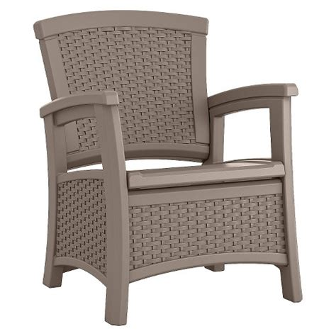 suncast elements resin patio storage club chair ebay