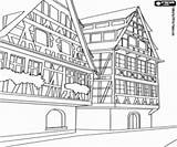 Buildings Coloring Alpine Pages Constructions Building Oncoloring sketch template