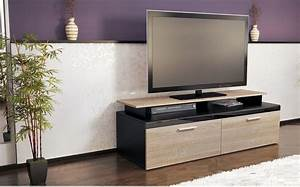 Meuble Bois Et Noir : meuble tv bois et noir id es de d coration int rieure french decor ~ Teatrodelosmanantiales.com Idées de Décoration