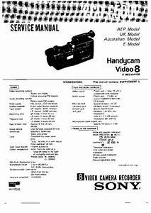Sony Ccd-f500e Service Manual