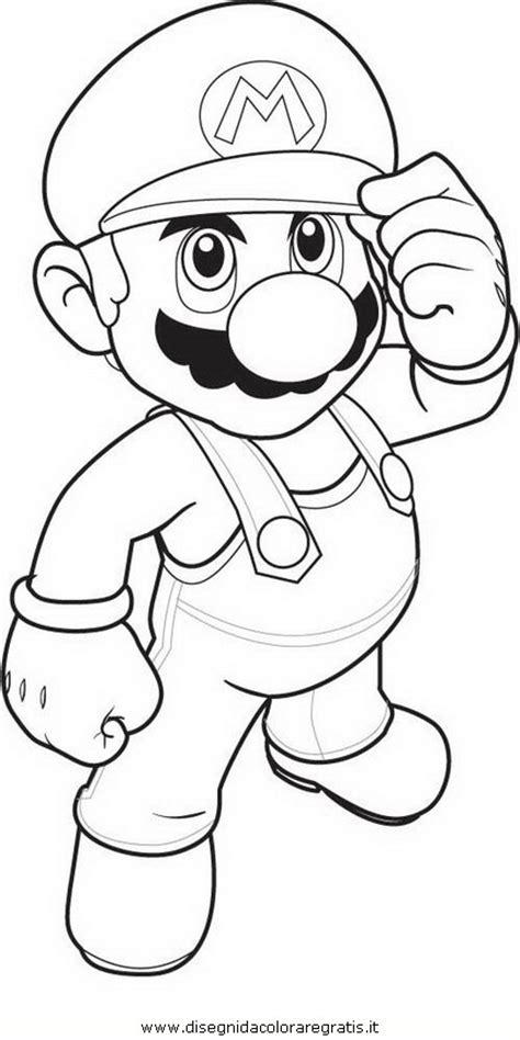 disegno mariobros personaggio cartone animato da colorare