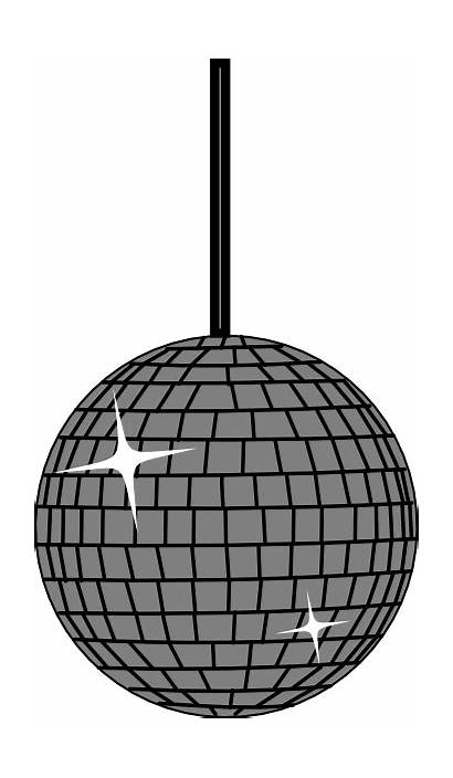 Disco Lights Ball Clipart Clip Cartoon Moving