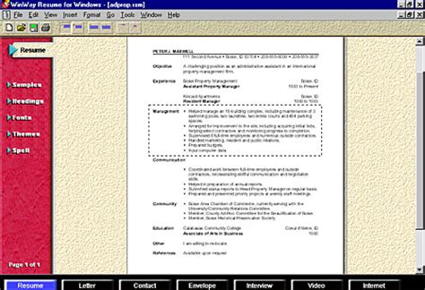 winway resume deluxe 14 free winway resume software free