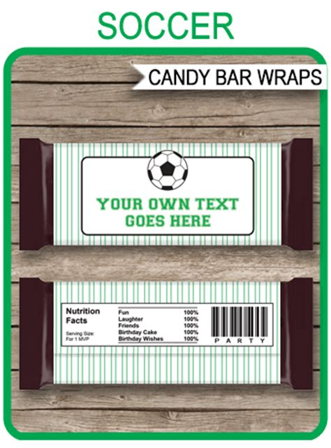 soccer hershey candy bar wrappers personalized candy bars