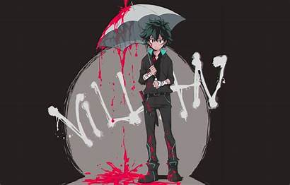 Hero Academia Umbrella Academy Blood Izuku Midoriya