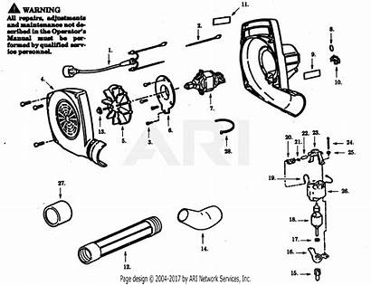 Blower Poulan Electric Assembly Parts Diagram Paramount