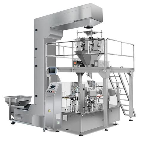 style premade bag rotary packing machine  multihead weigher vtops gd