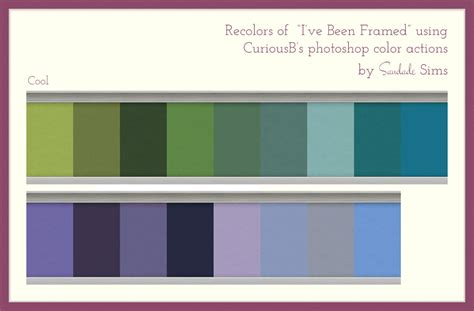 saudade sims  recolors   ive framed wall