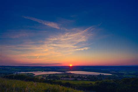 Sunset Under Blue Sky · Free Stock Photo