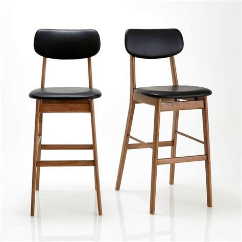 chaises de bar but chaise de bar lot de 2 watford noyer noir la redoute