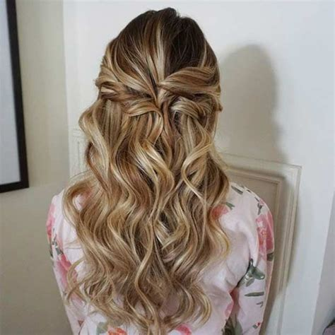 31 half up half prom hairstyles curly prom and