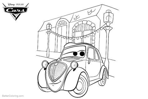 Free Printable Pixar Cars Coloring Pages
