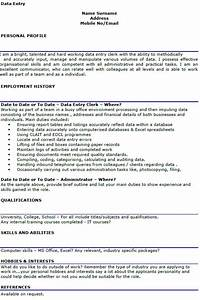 Resume Example Cashier Experience Data Entry Cv Example Lettercv Com