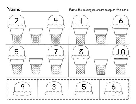missing numbers in a sequence 1 10 and 10 20 common core aligned homework cream and student