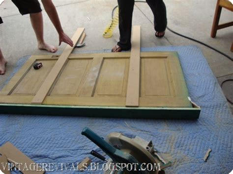 Old Door Into Headboard Tutorial