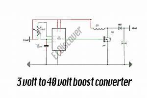 3 Volt To 40 Volt Boost Converter