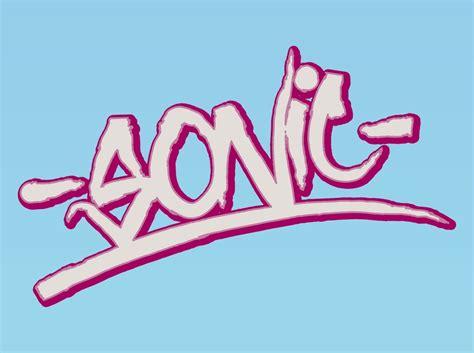 Grafiti Sonic : Sonic Graffiti Vector Art & Graphics