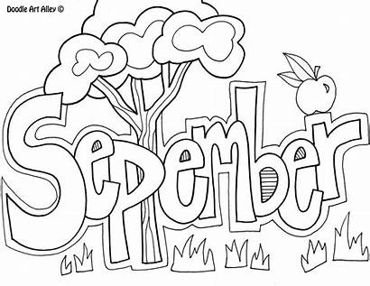 September Doodles Classroom Coloring Printables