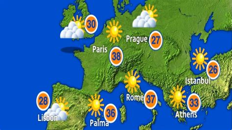 europe weather forecast meridian weekend itv compared region update