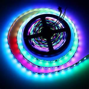 Led Strips Rgb : ws2811 led strip 5050 smd rgb led 30 60leds m 5m dc 12v dream magic color addressable digital ~ Frokenaadalensverden.com Haus und Dekorationen