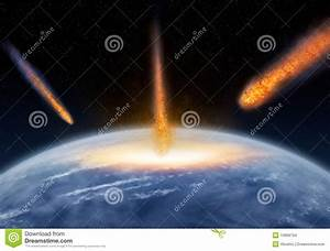 Meteors Hitting The Earth Stock Images - Image: 19968704