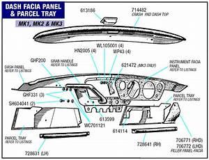 Triumph Spitfire Dash Fascia Panel  Parcel Tray And