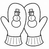 Coloring Mitten Pages Snowman Printable Winter Mittens Gloves Colouring Getcoloringpages Clipartmag Getdrawings Getcolorings sketch template