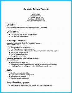 Bartender Experience Resumes Impressive Bartender Resume Sample That Brings You To A