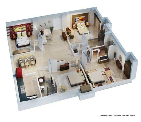 isometric floor plan render    behance
